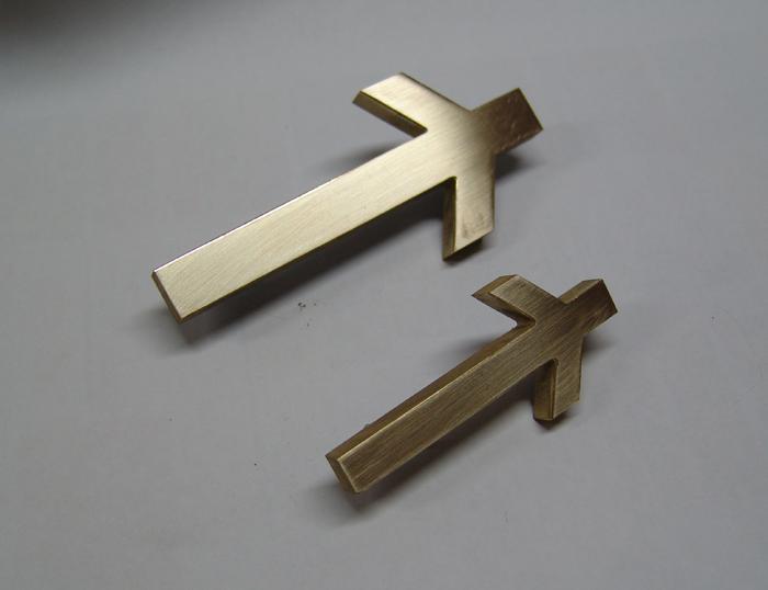 Крест Нино бронза. Латунь.