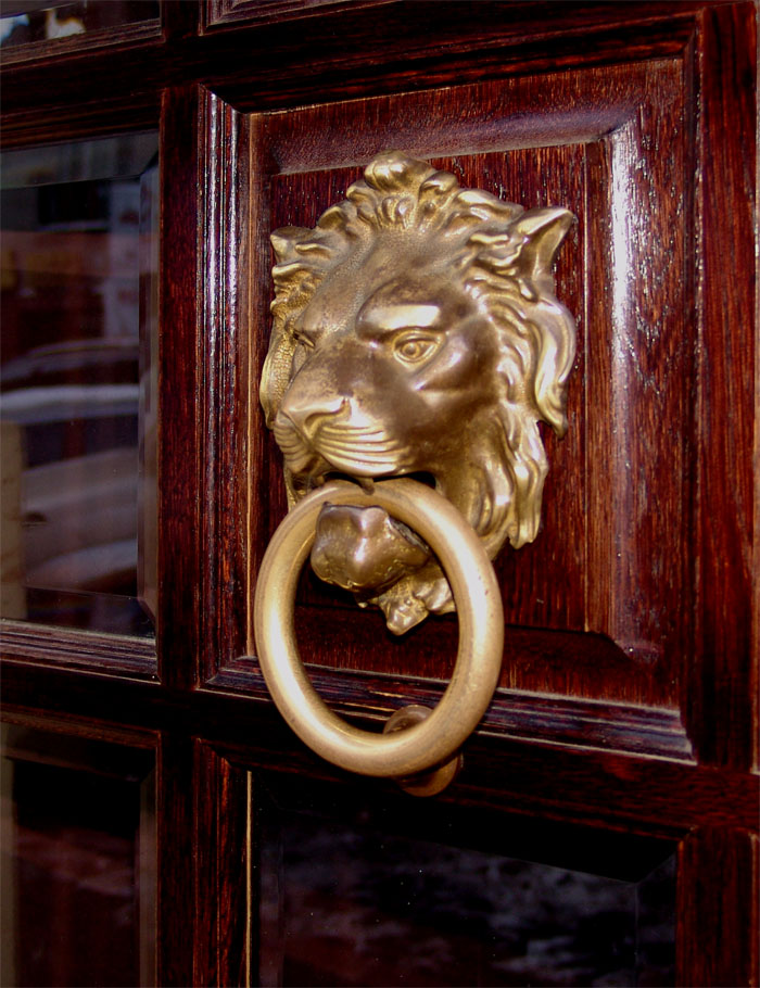 Ручка орда львам с кольцом бронза