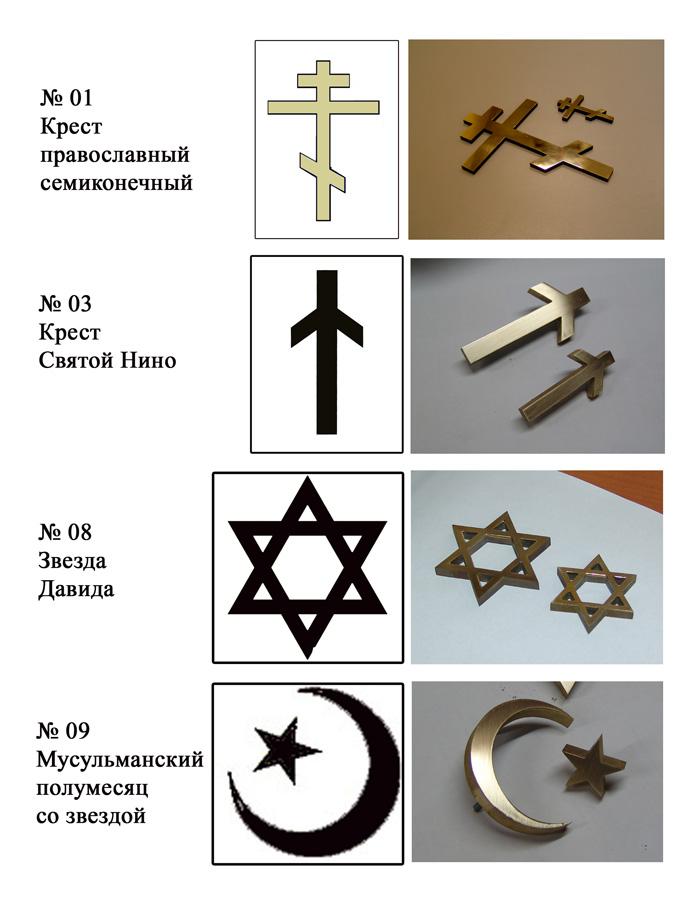 Оформление памятников надгробий кресты и буквы объемные