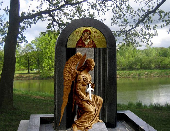 Эскиз памятника с грузинским крестом.
