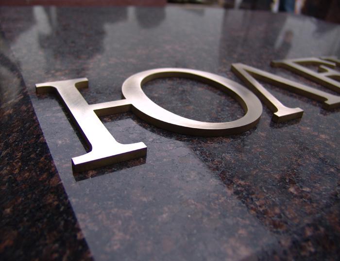 Нами изготовлено большое колличество накладных букв из латуни и нержавеки для памятников и надгробий.
