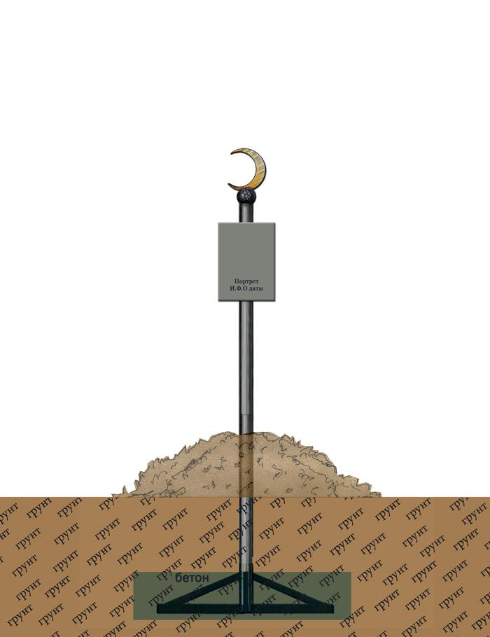 Полумесяц мусульманский на шесте изготовим под заказ.