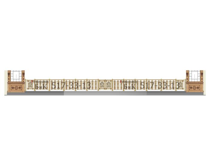 Эскиз ограждения солеи. Общая длина 10 метров.