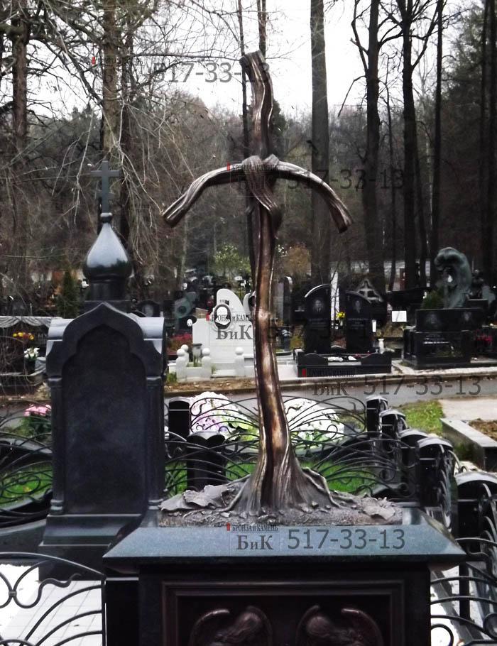 Крест Святой Нино. Бронзовое литье. Н=130см. Надгробие.
