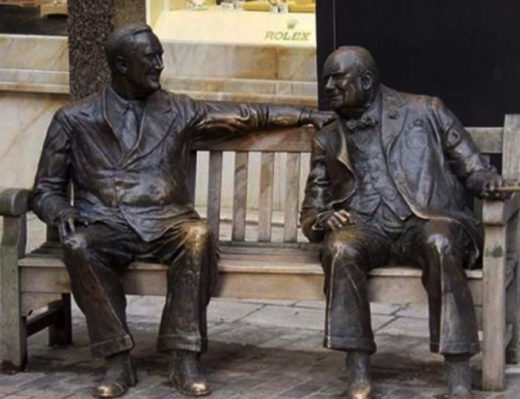 """Памятник """"Союзники"""" установленный в Лондоне в честь победителей Второй мировой войны."""