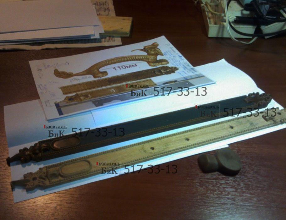 Латунные дверные ручки. Создание модели.