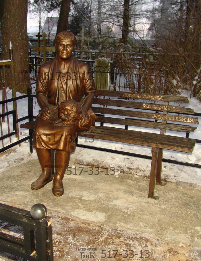 Установка на кладбище бронзовой скульптуры.