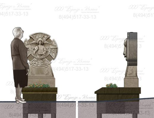 Памятник с ангелом.