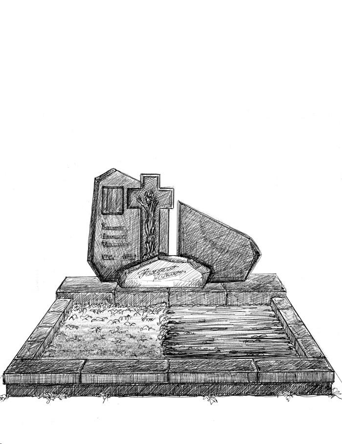 Памятник в стиле модерн