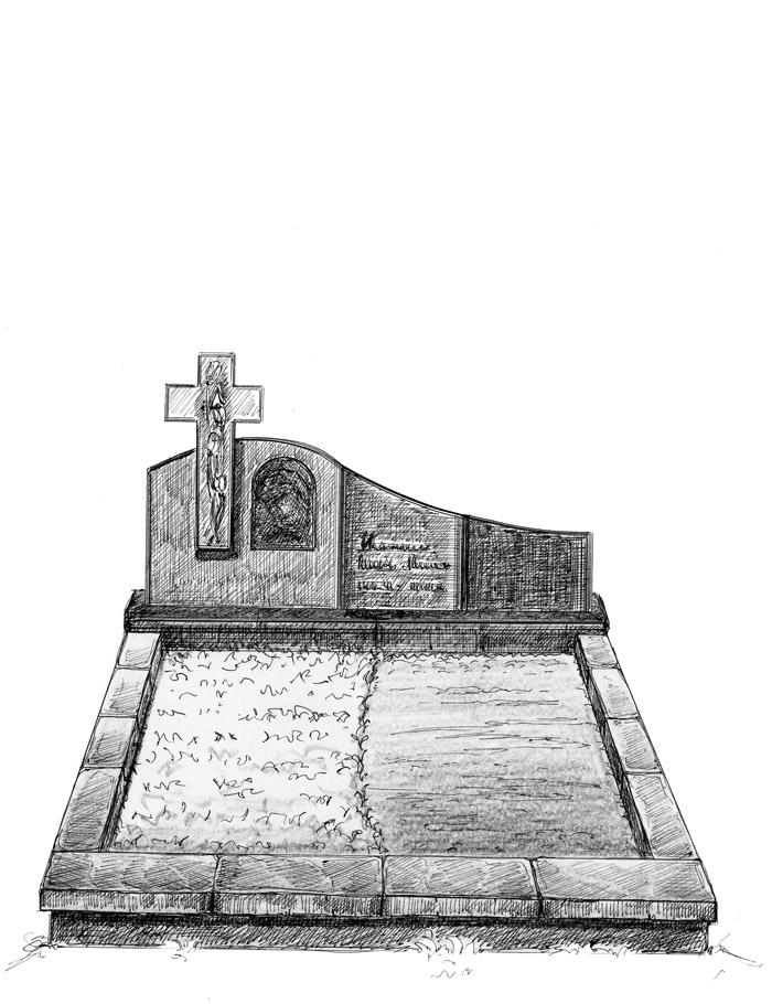 Эскиз надгоробия семейного захоронения