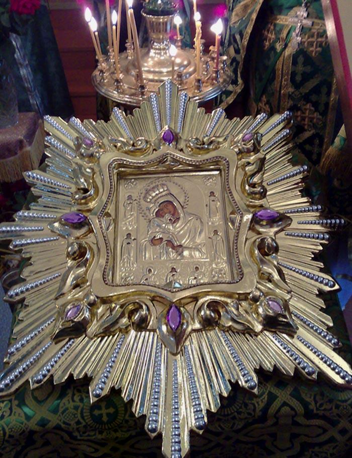 Копия иконы Почаевской Божией Матери