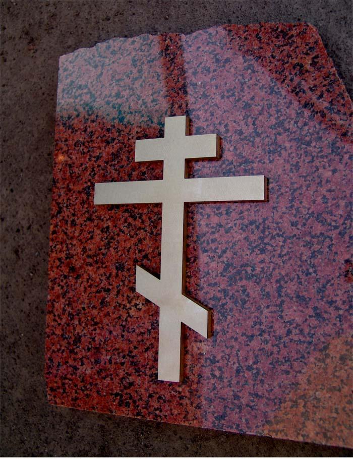 Крест накладной из бронзы