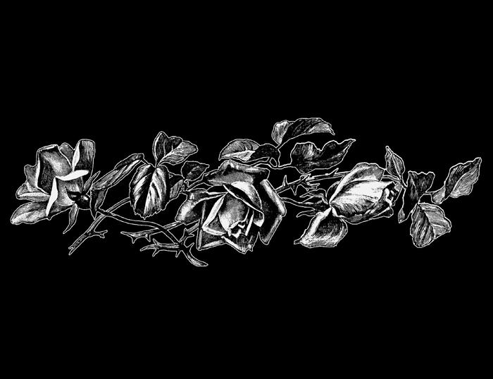 Розы - граверные работы
