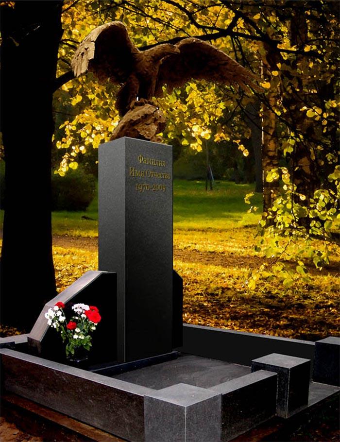 Надгробие с бронзовым орлом