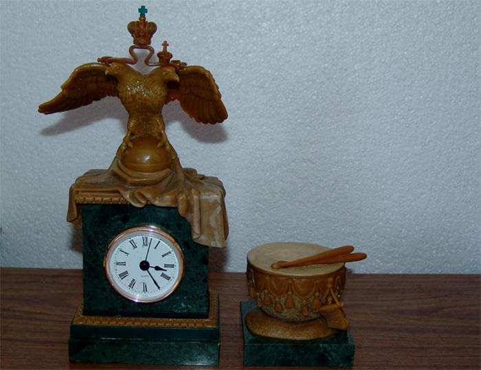Разработка часов-коретников с бвуглавим орлом. Восковая модель. Корпоративный подарок.