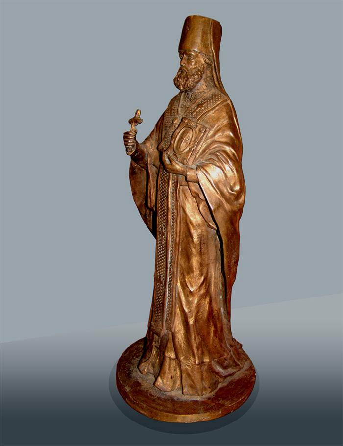 Священник. Скульптура. Бронзовое литье.