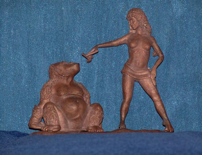 """Скульптурная композиция """" Укротительница"""". Бронзовое литье."""