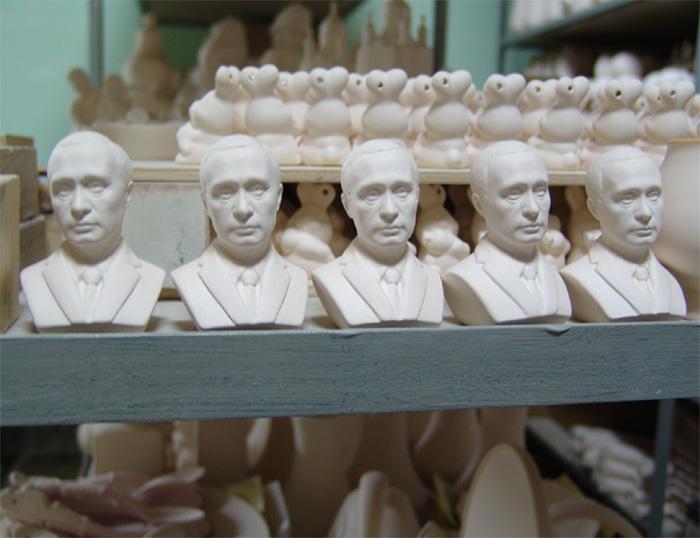 Бюст В.В.Путина. Керамика.