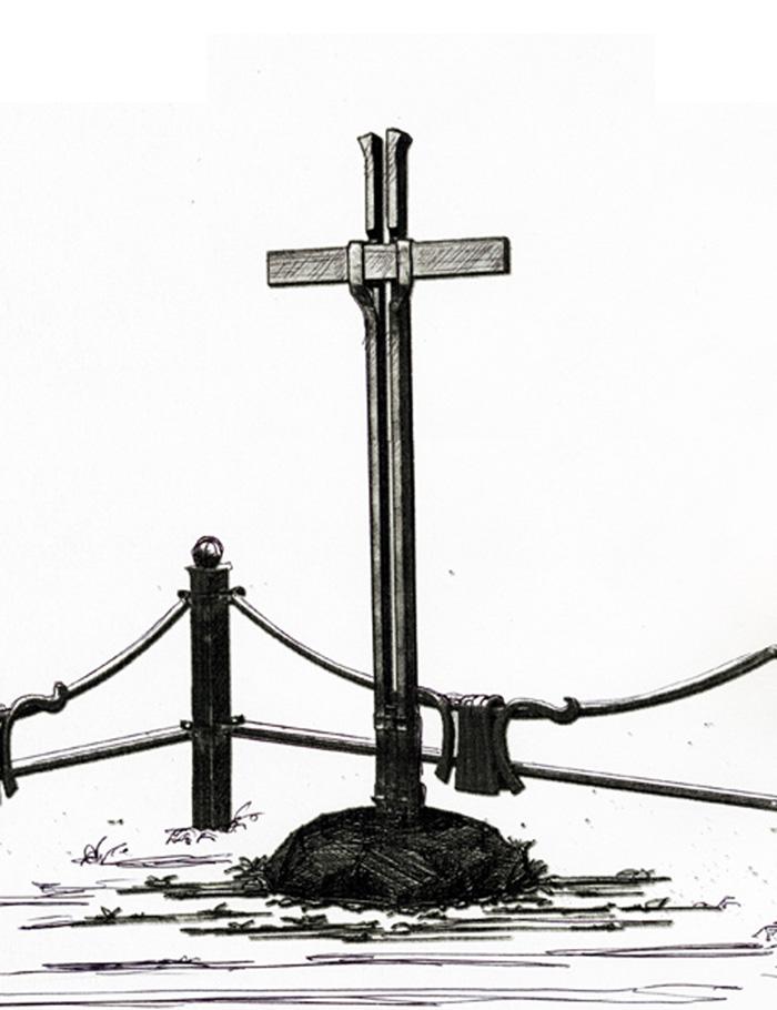 Кованый крест № 11