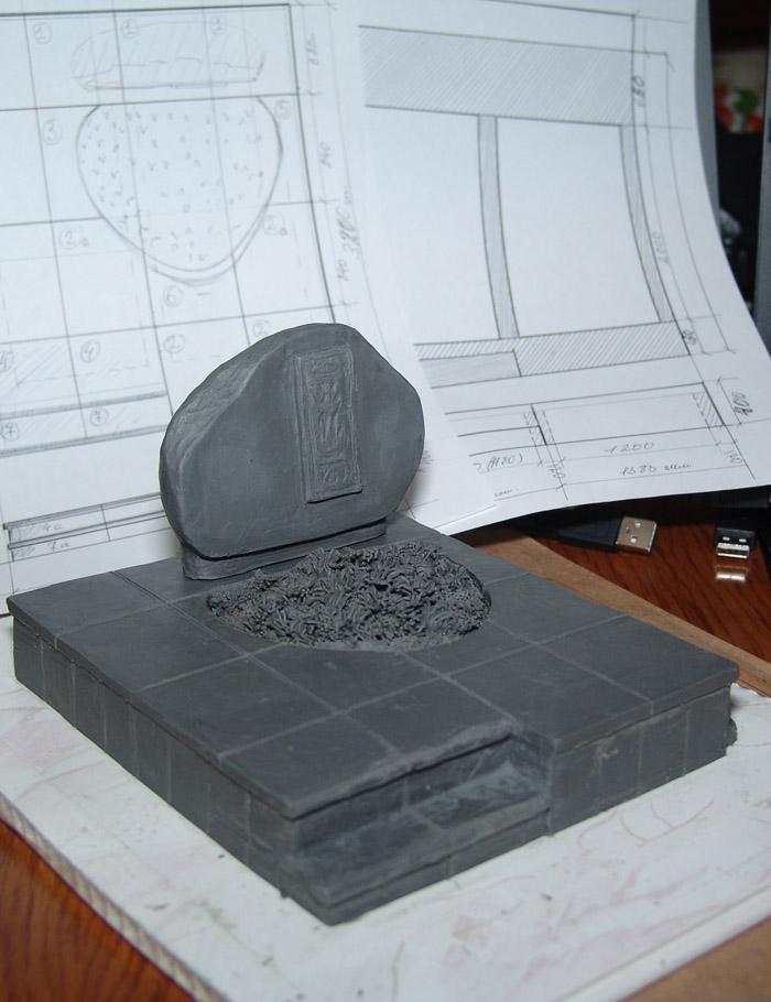 Макет надгробия. Наш скульптор для наглядности создасть макет Вашего проекта.