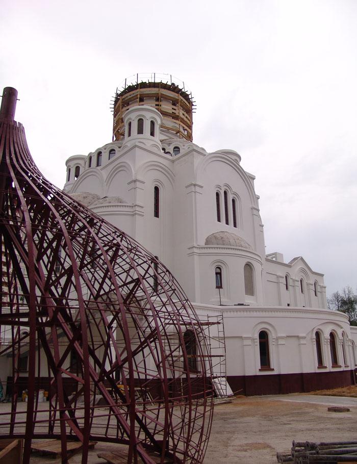 Центральный купол храма. Каркас.