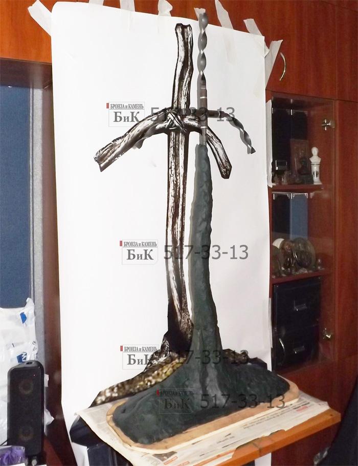 Лепка грузинского креста Святой Нино. Начало работы.