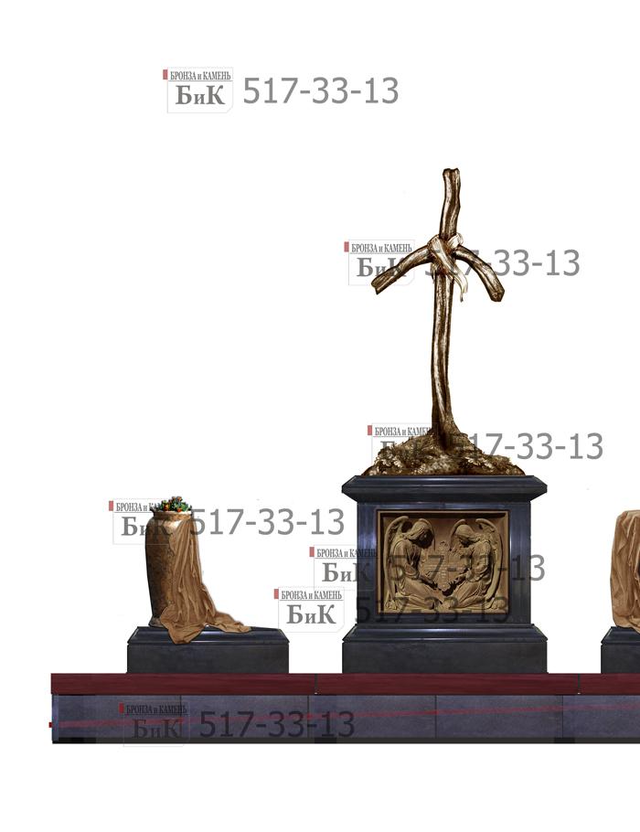 Проект надгробия с крестом Святой Нино из бронзы.