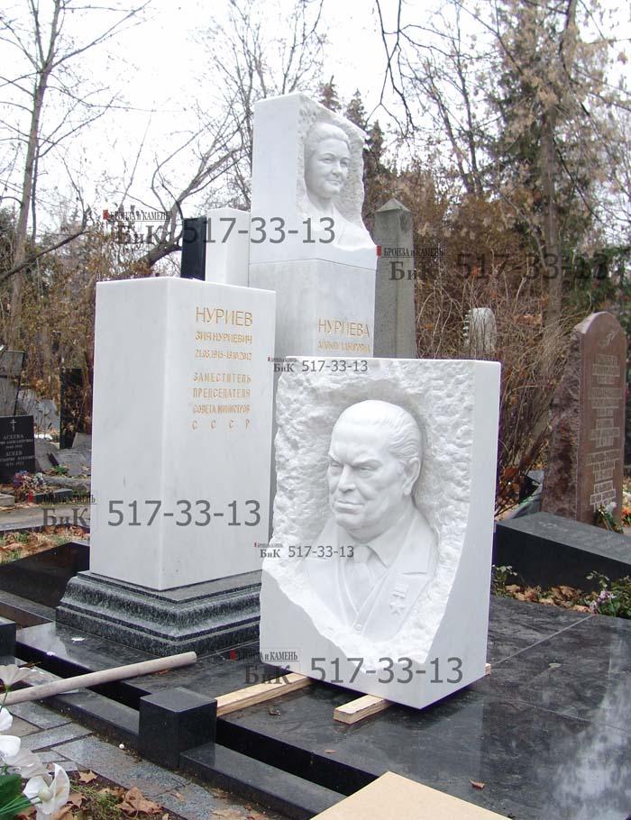 Изготовление памятникоа и установка З.Н. Нуриеву,Москва.