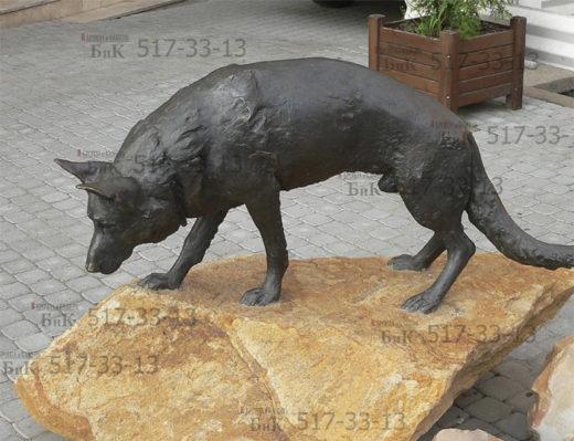 Скульптура собаки. Бронза.