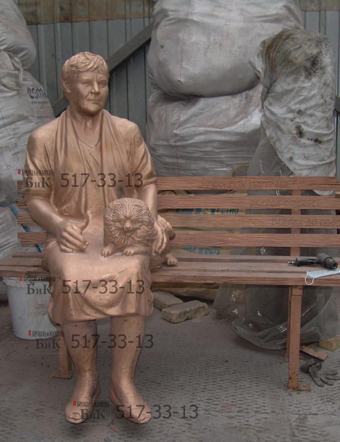 Пескоструйка бронзовой скульптуры.