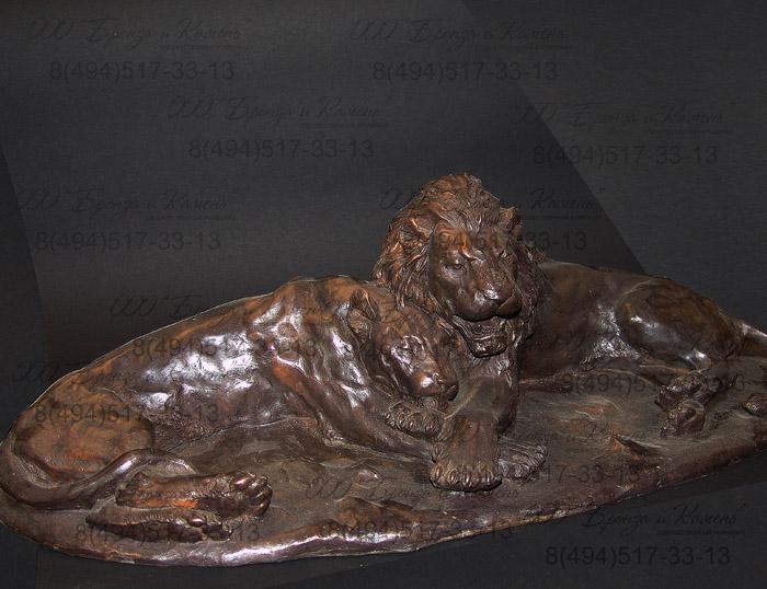 Львы. Бронза. Анималистическая скульптура.