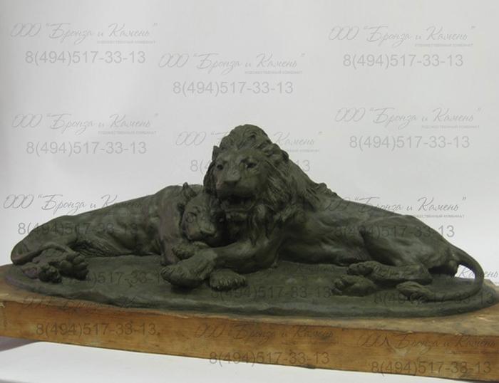 Львы. Анималистическая скульптура. Лепка.