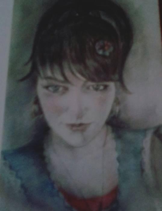 Художник Давид Барциц портрет девушки.