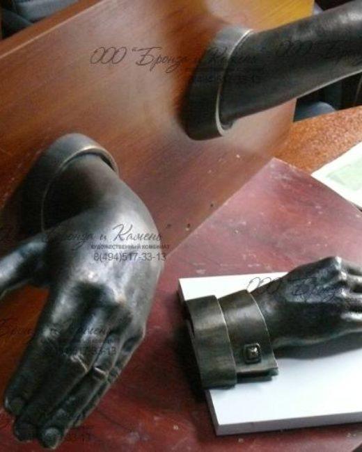 Бронзовая дверная ручка