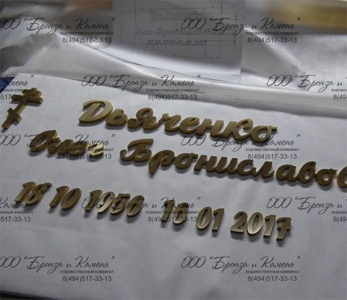 Изготовление букв из латуни