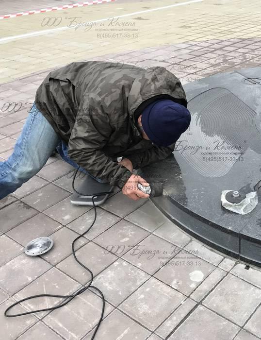 Реставрация гранитного основания памятника