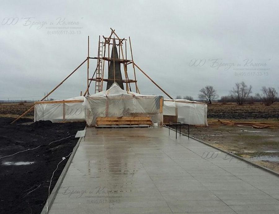 Установка памятника в зимнее время