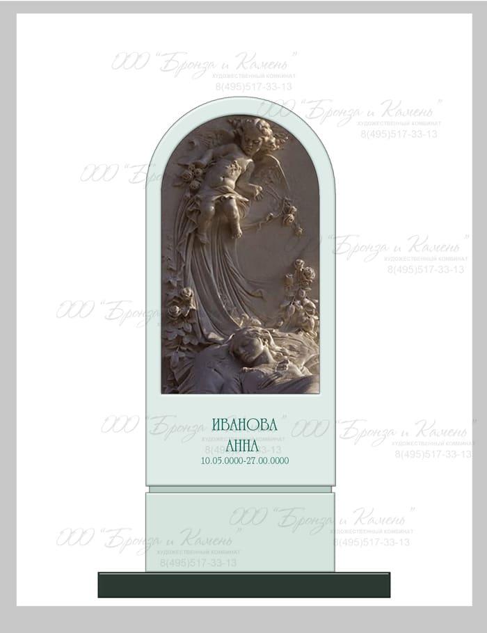 Памятник на кладбище с ангелочком